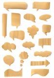 Mowa papierowy bąbel Zdjęcie Stock