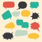 Mowa ramy M?wi dzieciaka b?bla set z obcoj?zycznej rocznik rozmowy komicznymi chmurami owalnymi dla gadka teksta dialog wektorowe ilustracji