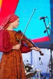 Mowa rosyjską ludową orkiestrą zespołu inconnu Obraz Stock