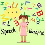 Mowa terapeuta mała dziewczynka Zdjęcia Stock