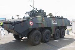 MOWAG PIRANHA IIIC of the Romanian Army. Close-up view of a Romanian Army Mowag Piranha IIIC 8x8 armoured personnel carrier, in display with the NATO Caravan in Stock Photo