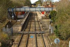 mowbray järnväg station för melton Arkivfoto