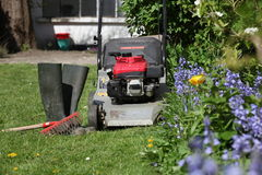 A mower royalty free stock images