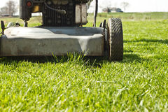 Mower Finish Lawn Royalty Free Stock Image