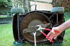 Mower maintenance Stock Images