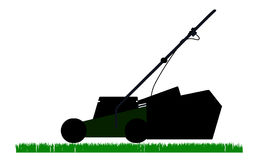 Mower  outline solhouette Stock Photo