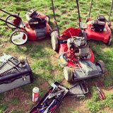 Mower repair Royalty Free Stock Images
