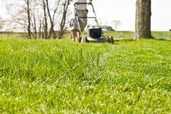 Mower Tall Grass Stock Photos