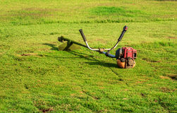 Mower On The Yard Royalty Free Stock Photography