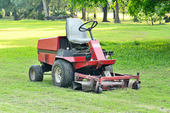 Mowers availability in after use. Royalty Free Stock Photo