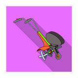 Mowers for cutting grass and lawn. Agricultural machinery for the court Royalty Free Stock Image
