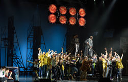 Mowgli Generation the musical at SPIEF 2015 Royalty Free Stock Photo