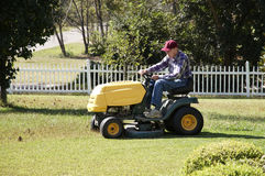 Mowing Royalty Free Stock Image