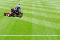 Mowing graas Stock Photos