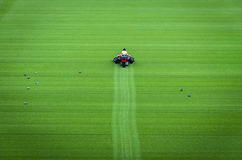 Mowing grass Stock Photography