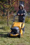 Mowing grass Royalty Free Stock Photography