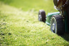 Mowing the grass Royalty Free Stock Image