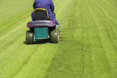 Mowing the grass Stock Photography