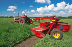 Mowing Hay Stock Photography