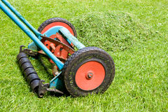 Mowing the lawn Royalty Free Stock Photos