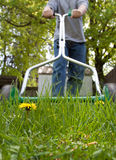 Mowing the lawn Stock Photography