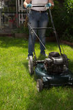 Mowing Lawn Royalty Free Stock Image