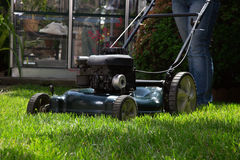 Mowing Lawn Royalty Free Stock Photography