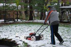 Snow Mowing! Royalty Free Stock Photos
