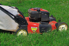 Mowing Lawn Stock Photography