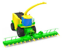 The mowing machine. 3d generated picture of a mowing machine royalty free illustration