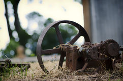 Mowing Machine Vintage. Incomplete Mowing Machine Vintage ( with missing parts Royalty Free Stock Photography