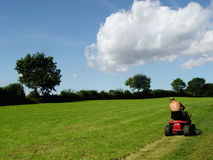 mowing man Royalty Free Stock Image