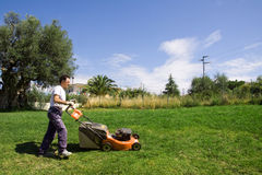 Mowing the meadows Royalty Free Stock Photography