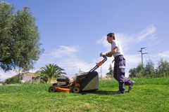 Mowing the meadows Royalty Free Stock Images
