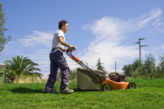 Mowing the meadows Royalty Free Stock Photos