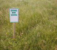 Mowing Sign Royalty Free Stock Photos