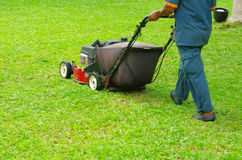 Mowing The Lawn Royalty Free Stock Photo