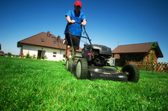 Free Mowing The Lawn Royalty Free Stock Photo - 9226785