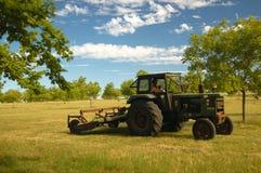 Mowing tractor. Farmland. Uruguay Royalty Free Stock Photography