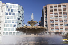 Moyúa, Square in Bilbao, Spain Royalty Free Stock Image