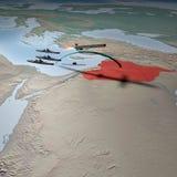Moyen-Orient comme vu de l'espace, Syrie Photo libre de droits