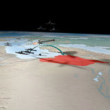 Moyen-Orient comme vu de l'espace, Syrie Photo stock