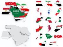 Moyen-Orient marque la compilation illustration de vecteur