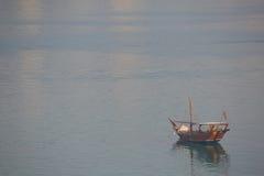 Moyen-Orient, Qatar, Doha, bateau traditionnel dans le port de Doha Photos stock
