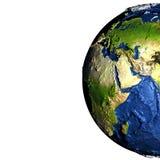 Moyen-Orient sur terre avec les montagnes exagérées Photographie stock libre de droits