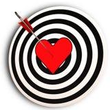 Moyens de cible de coeur je t'aime réalisés Photographie stock libre de droits