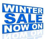 Moyens de vente d'hiver à l'heure actuelle et actuellement Photographie stock