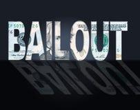 Moyens Etats-Unis et mise en liberté sous caution des dollars de renflouement illustration stock