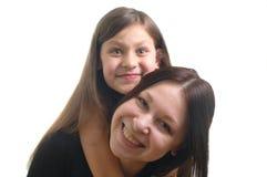 Moyher en dochter Stock Foto's
