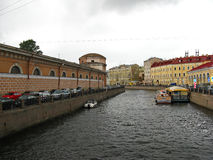 Moyka河在圣彼得堡 俄国 免版税库存图片